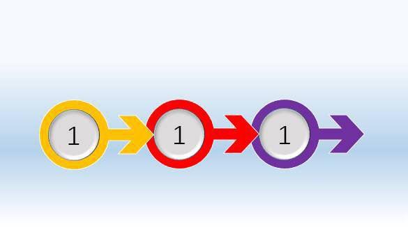 在PPT文档中制作出箭头图案的方法