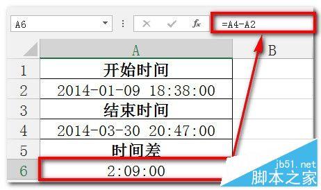 excel函数计算两个日期之间天数和时间计算的方法